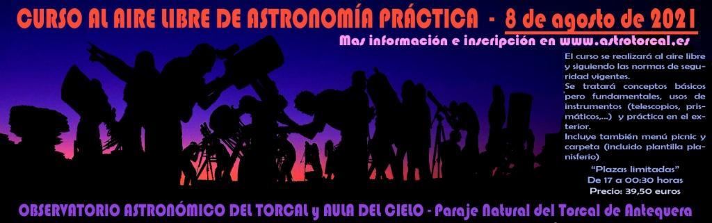 CARTEL OFICIAL DEL CURSO AL AIRE LIBRE DE ASTRONOMIA PRÁCTICA